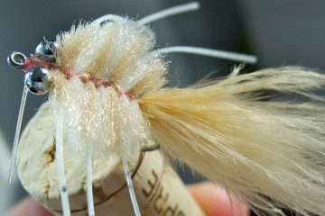 Marabou Merkin Crab in Pink & Cream