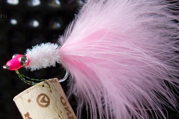 Crystal Minnow: Pink Marabou