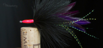 Tarpon Fly: Black & Purple