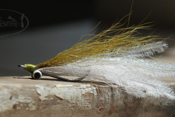 High Tie Ostrich Clouser: Olive