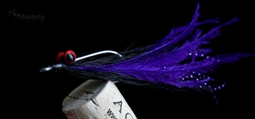 High Tie Ostrich Clouser: Purple